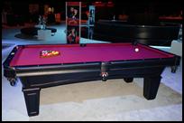 8-ft Drop Pocket 3-Slate Black Pearl Pool Table