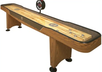 12-Ft Shuffleboard Table w/ Electronic Scoring