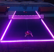 Ping Pong Table with color changing LED Lights