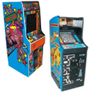Upright Classic Arcade Games w/ color changing LED lights