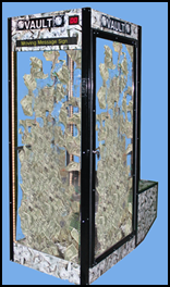 Vault Money Booth    w/ programmable scrolling LED Panel