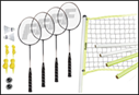 4-player Badminton Sports Set  (Standard Court)