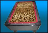 Masterpiece Pool Table - Leopard Print