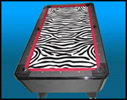 Masterpiece Pool Table - Zebra Print