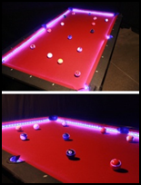 Valley Slate Pool Tables with color changing LED Lights