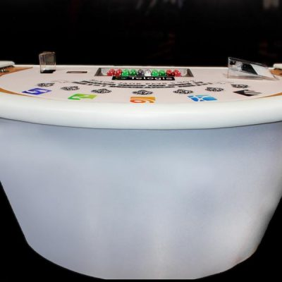 All White Blackjack Table (Up to 4 Hours w/ Dealer)