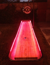 12-Ft Shuffleboard Table w/ color changing LED Lights